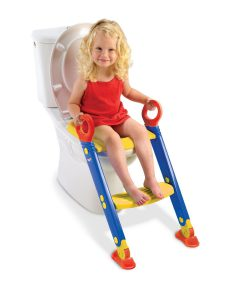 Kinder WC mit Leiter und Haltegriffe von Keter in der Farbe blau, rot, gelb