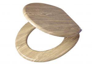 Holz Wc Sitz Mit Absenkautomatik Und Muster Massiv Und Robust