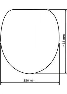 Größenangabe vom Wenko WC Sitz Maße 350x435 cm