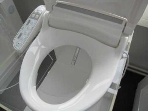 dusch wc Wacor Mewatec C300 geoeffnet ansicht von oben