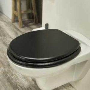 WC-Sitz Schwarz Leder